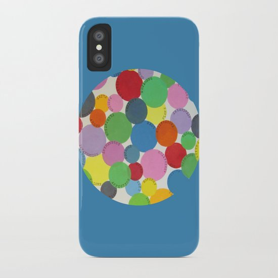 Word Bubbles Blue iPhone Case