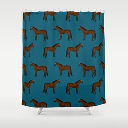 Bay Horse breed farm animal pet pattern horses Shower Curtain