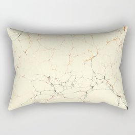 Marbled Cream Rectangular Pillow