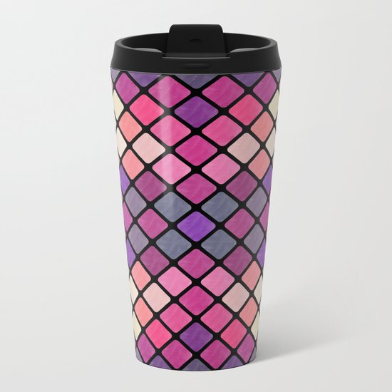 Lovely geometric Pattern XI Metal Travel Mug