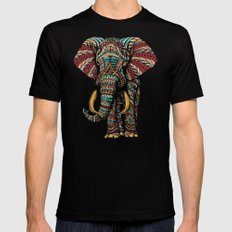Ornate Elephant (Color Version) Black Mens Fitted Tee SMALL