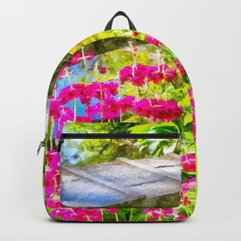 The pretty little bridge. (Painting) Backpack