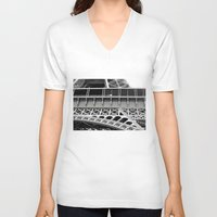 eiffel tower V-neck T-shirts featuring Eiffel Tower by James Tamim
