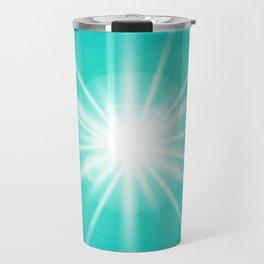 turquoise and light effect Travel Mug