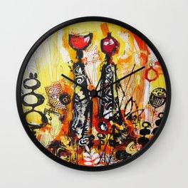 African Heat Wall Clock