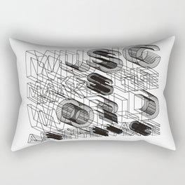 Music makes the world a better place Rectangular Pillow