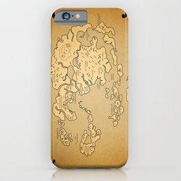 Avatar Last Airbender Map iPhone Case