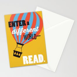Different World - Just Read Stationery Cards