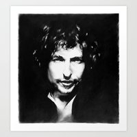 dylan Art Prints featuring Dylan by free4m