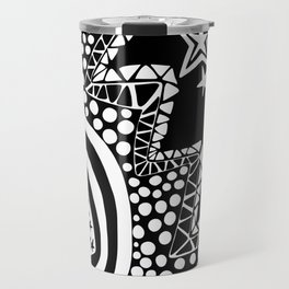 Soul Of The Dream Desert - Star Gazer (Black and White Edition) Travel Mug