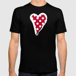 Red and Polka White Dots T-shirt