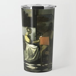Stolen Art - The Concert by Johannes Vermeer Travel Mug