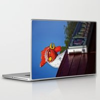 scary Laptop & iPad Skins featuring Scary Chicken by Mark Alder