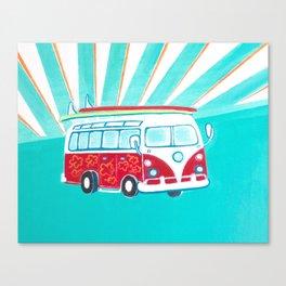 Surfer Sunrise Canvas Print
