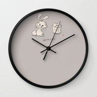gift card Wall Clocks featuring You're a Gift  by Hello Heart