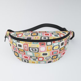 Watercolor Mid Century Modern Squares and Rectangles Fanny Pack