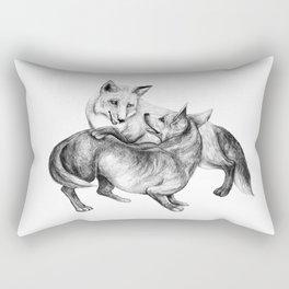 A fox and a dog  Rectangular Pillow