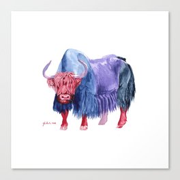 Technicolor Yak Canvas Print