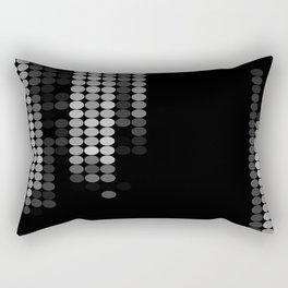 Shades Of Grey Dot Pattern - Rustic Glam Rectangular Pillow