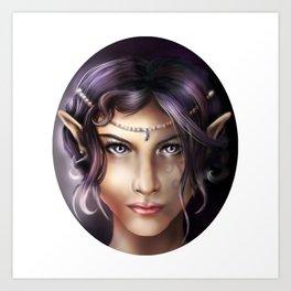 Elven Face Art Print