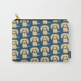 Longhaired Cream Dachshund Cartoon Dog Carry-All Pouch