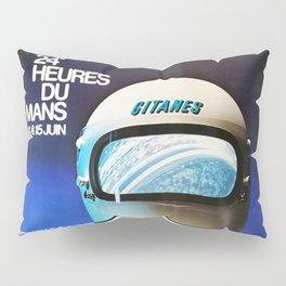 Le Mans, vintage poster, t-shirt, 1975 Pillow Sham