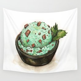 Mint Chocolate Chip Ice Cream Wall Tapestry