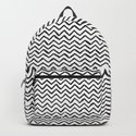 Black & White Hand Drawn ZigZag Pattern by alisagal