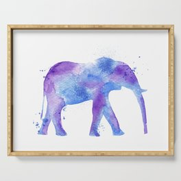 Watercolor Elephant Serving Tray