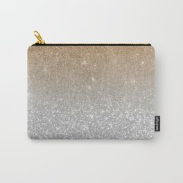 Trendy silver elegant gold gradient glitter pattern Carry-All Pouch