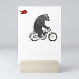 Motorcycle Bear Mini Art Print