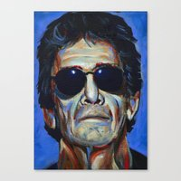 lou reed Canvas Prints featuring Lou Reed by Buffalo Bonker