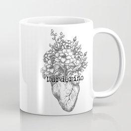 Murderino Heart and Flowers Gray | MFM Coffee Mug