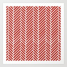 Herringbone Candy Art Print