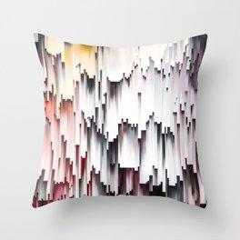 White Black Mauve Cascade Abstract Throw Pillow