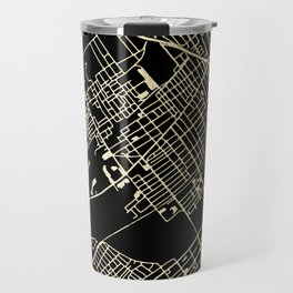 Wilkes-Barre Gold and Black Map Travel Mug