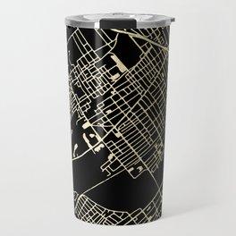 Wilkes-Barre Gold and Black Map Travel Mug