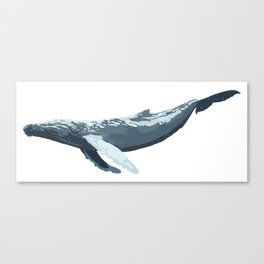 Galactic Whale Canvas Print