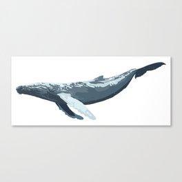 Galactic Whale Canvas Print