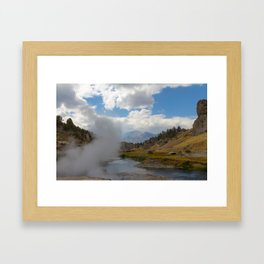 Geothermal Phenomonen California Eastern Sierra Framed Art Print