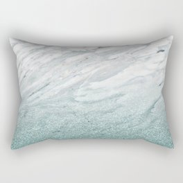 Calacatta Verde glitter gradient Rectangular Pillow