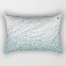 Calacatta Verde glitter gradient Rectangular Pillow