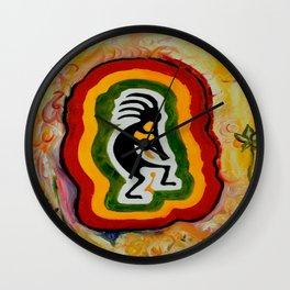 Disco Kokopelli Wall Clock