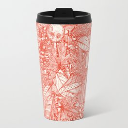 forest floor fire orange ivory Travel Mug