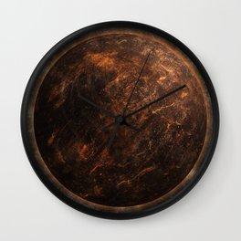 Rust Belt Moon Wall Clock