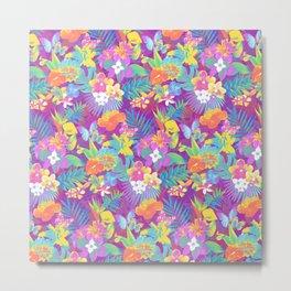 Exotic floral pattern. Metal Print