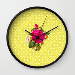 Floral Geometric Wall Clock