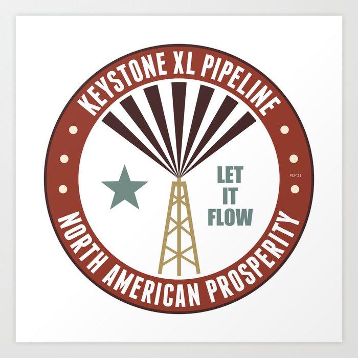 Keystone Pipeline Art Print
