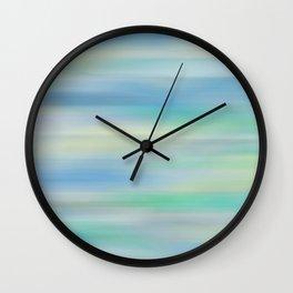 Blue, Green Abstract Wall Clock