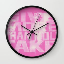 Give and Take Wall Clock